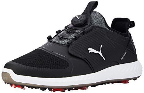 PUMA Herren Ignite Pwradapt Caged Disc Golfschuhe, Grau Black Silver Black 02, 39 EU