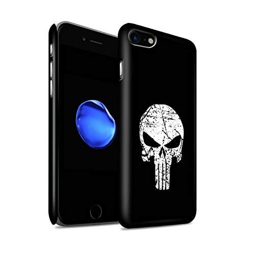 Stuff4 Matte Duro Snap On Custodia/Cover/Caso/Cassa del Telefono per Apple iPhone 7 / Punisher Ispirato/Arte Anti Eroe Disegno
