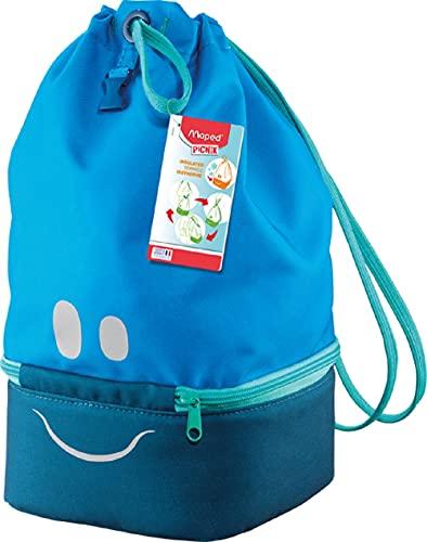 Maped Picnik Concept Kids - Sac à Déjeuner Isotherme pour Enfant avec Anse de Transport - Partie Basse Isotherme - Sac Isotherme Repas - Bleu - 9L 872303