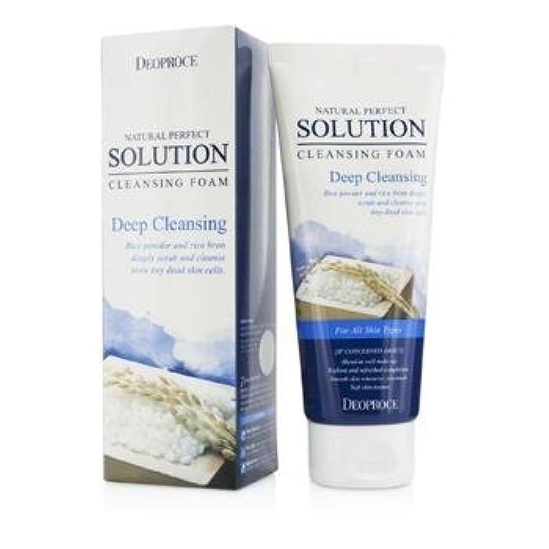 カウンターパート読みやすい機構Deoproce Natural Perfect Solution Cleansing Foam - Deep Cleansing 170g/5.6oz by deoproce