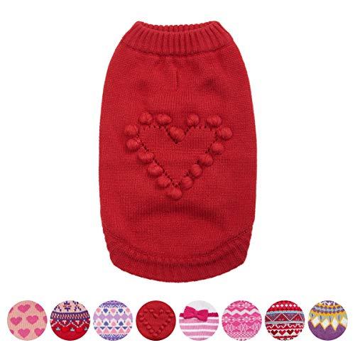 Blueberry Pet Aus Liebe zu Tieren - Herz Designer Hundepullover, Rückenlänge 25cm, Einzelpackung Bekleidung für Hunde