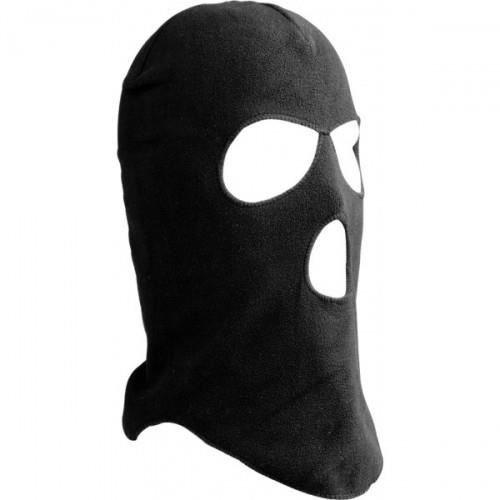 FLConseils - Cagoule Polaire 3 Trous - Unique - Noir