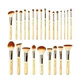 Jessup, set di pennelli professionali da trucco in bambù, 25 pezzi, set di accessori cosm...