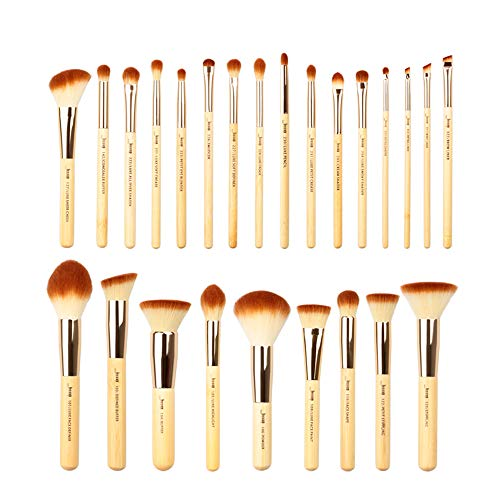 Jessup Pinselset Make up Pinsel Set Professionelle mit Gesichtspinsel Lidschattenpinsel Augenpinsel Synthetische Haar Kosmetik Eyeshadow Eyeliner puder 25 Stück (Bambus)