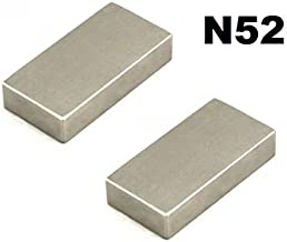 Magnet permanent Super-aimant n/éodyme Magnets permanent ultra fort Aimant de levage Aimant mega puissant /& ultra fort Magnetastico/® 2x aimants en n/éodyme ultra fort N52 disque 50x10 mm