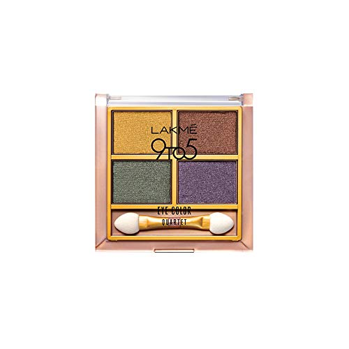 Lakme 9 to 5 Eye Color Quartet Eye Shadow, Tanjore Rush, 7...