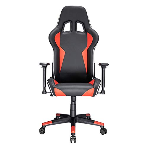 LXFTK Ergonomic Gaming Chair, Pc Racing Game Chair Home Pu Leather Office Computer Chair Adjustable Swivel Chair Reclining Lift Boss Chair-Orange