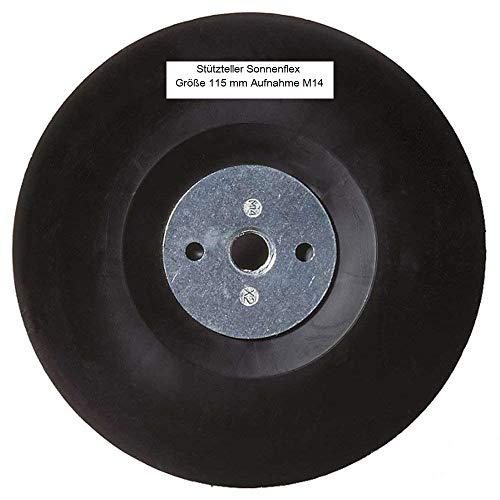 Sonnenflex Platorello di supporto Silver Star Vulcano fiber rondelle dimensioni 155x 22,23mm, 00460