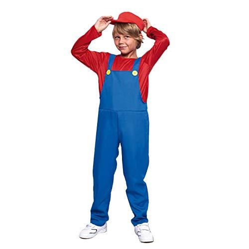 Disfraz Fontanero Rojo niño Infantil para Carnaval (10-12 años) 21722