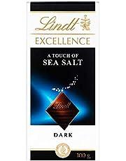 Lindt Excellence Tableta de Chocolate Negro, con un Toque de Flor de Sal, 100g