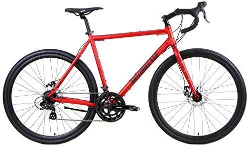 "Motobecane Gravel X2 Disc Brake Disc Brake 14 Speed Gravel Super Road Bike (Lava Red, 54cm fits Most Cyclist 5'7"" to 5'9"")"