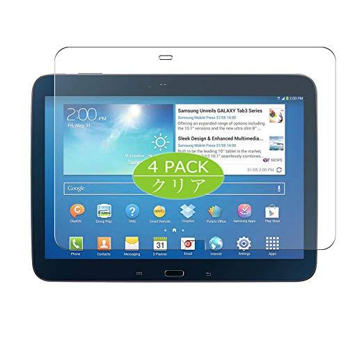 VacFun 4 Piezas HD Claro Protector de Pantalla Compatible con Samsung Galaxy Tab 3 10.1' P5200 p5210, Screen Protector Sin Burbujas Película Protectora (Not Cristal Templado) New Version