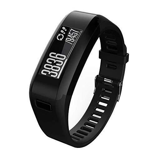 Meoket Cinturino Compatibile per Garmin Vivosmart HR, Cinturino Silicone di Alta qualità per Garmin Vivosmart HR Smart Watch (Nero)
