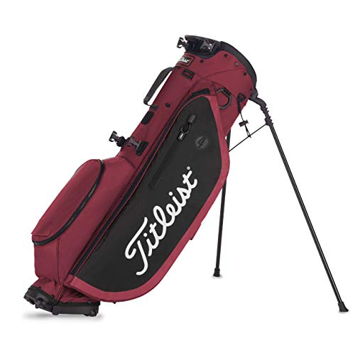 Titleist Players 4 Stand Bag Maroon/Black