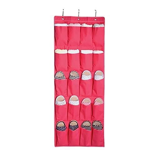 20 Bolsillos Oxford Oxford sobre Puerta Colgante Bolsa Caja Zapatos Zapatillas Bufandas Organizar Rack Hanger Almacenamiento Tidy Storage Caja Colgante Bolsas Colgantes (Number of Cells : 20 Pocket)