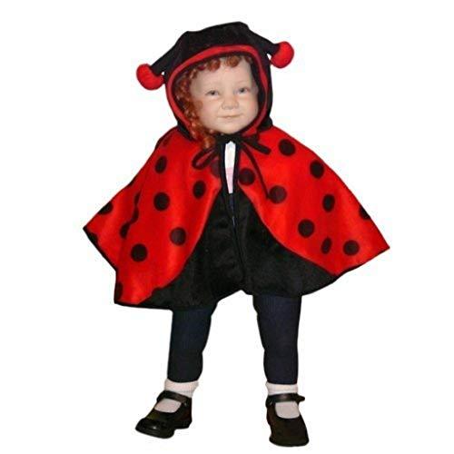 Marienkäfer-Kostüm als Umhang, An38/00 Gr. 74-98, für Babies und Klein-Kinder, Marienkäfer-Kostüme Marien-Käfer Kinder-Kostüme Fasching Karneval, Kinder-Karnevalskostüme, Kinder-Faschingskostüme
