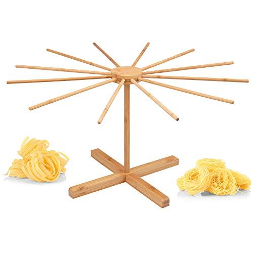 bremermann Nudeltrockner aus Bambus - Nudelständer für selbstgemachte Pasta, faltbar // Pastatrockner