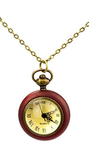Bolsillo TU40 de colour rojo de madera gigajump y larga cadena dorado...