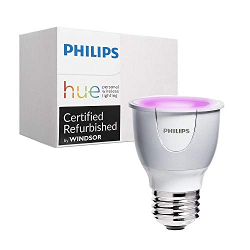 Philips 456673 Hue White and Color Ambiance PAR16 Dimmable LED Smart Spot Light - Compatible with Alexa  Apple HomeKit, and Google Assistant (Renewed)