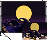 DULUDA 9X6ft Nightmare Before Christmas Themed Backdrop Halloween Pumpkin Birthday Baby Shower Photo Studio Photography Background Party Home Decor Pictures Decoration Shoot HW39B