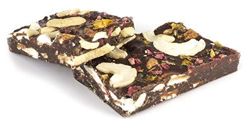 Edelmond Bio Superfood - Schokolade ohne Zucker, nur mit Erythrit. Riesiger Fruchtanteil und rohe Kakaobohnen für eine Vegan & Laktose-freie Süßigkeit. 150g Riegelpack