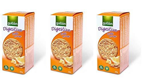 Gullon Oats & Orange Digestive Biscuits - 15 OZ - 3 pack