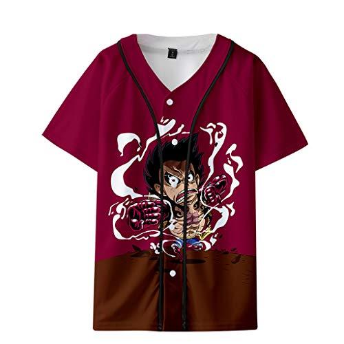 Camiseta Anime One Piece Masculina Camisa One Piece Anime Estampada Luffy en 2D Feminina Camiseta Unissex Anime ONR PIECE Adolescente e Adulto (C,XS)