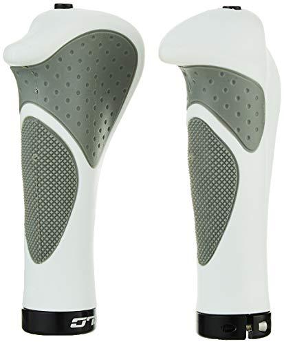 XLC Unisex– Erwachsene Griffe Ergonomic GR-S22, Weiß/Grau, 135 mm