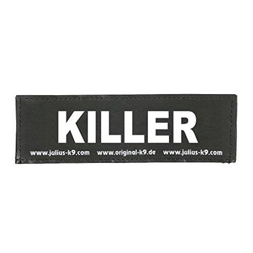 Julius-K9 162LR-K-36661 Klettaufschrift, Killer, klein, schwarz