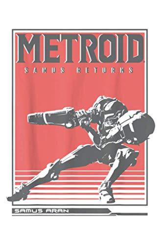"Nintendo Metroid Samus Returns Side Pose Graphic: Daily Planner Journal: Notebook Planner,To Do List, Daily Organizer (6"" x9"")"