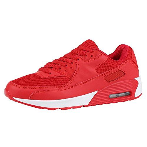 Japado Bequeme Herren Schuhe Sportschuhe Laufschuhe Profilsohle Sneakers Rot Rot 36
