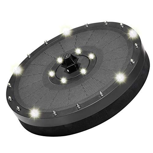 RUIXI 9V / 3,5W LED Solar Wasserpumpe Batterie Solar Brunnenpumpe Schwimmender Brunnen Gartendekoration 7 Arten von Wasserformen für Vogelbad, Teiche, Schwimmbäder, Fischtanks, Aquarien und Gärten