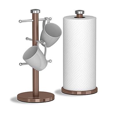 Morphy Richards Accents Mug Tree & Towel Pole Set- Stainless Steel, S/Steel, Set of 6 by Morphy Richards