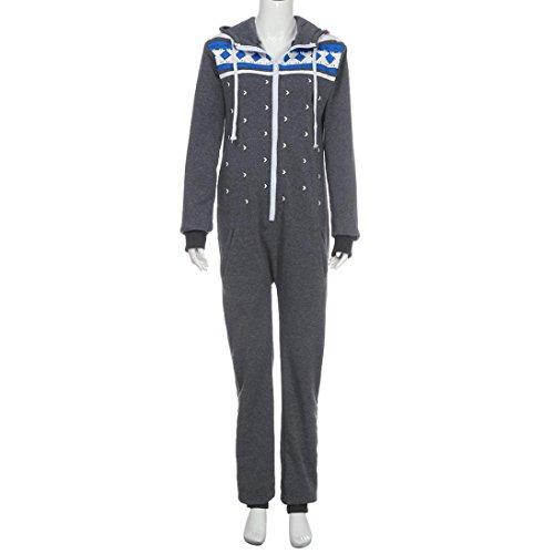 AMUSTER Frauen Jumpsuit (grau, dunkelgrau) - 5
