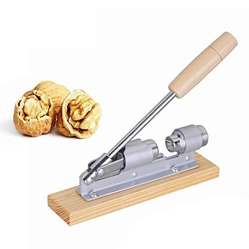 Nanxin Heavy Duty Nusszang, Retro Design Nussknacker aus Holz und Edelstahl, kraftsparend Nüsse öffnen