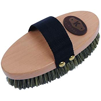 Kincade Wooden Deluxe Banana Shaped Dandy Brush One Size Brown