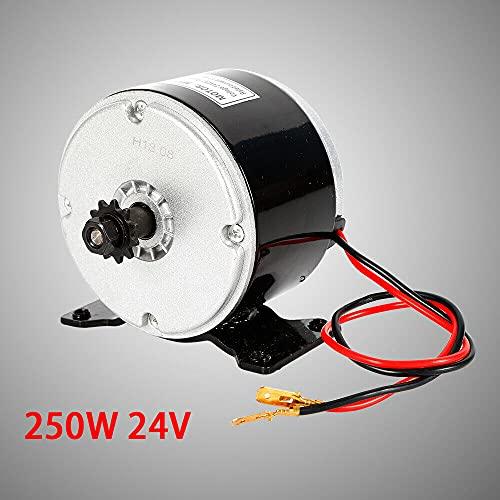Fetcoi Cepillo eléctrico de 250 W CC, imán permanente, motor impermeable de 24 V para scooter eléctrico Go-Kart