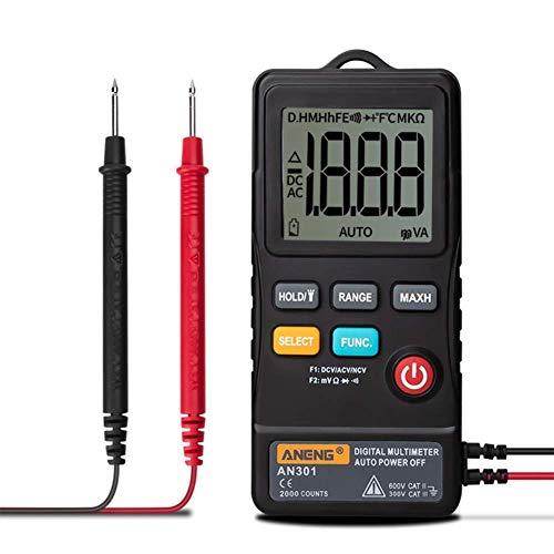WY-YAN Multímetro digital inteligente automático anti-quema universales de medición portátil Preciso