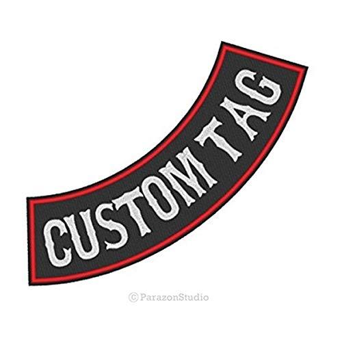 "Custom Embroidered 12"" Side Rocker Vest Patch Motorcycle Biker Patch Club MC"