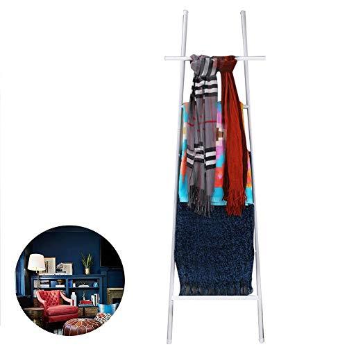 Moderne decoratieve metalen leunende ladderrek, standaard alleen deken ladderhouders, badkamer handdoek ladderrek roestvrij staal, 5.5ft hoge quilt rackhanddoek drogen en displayrek