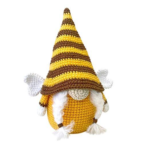 Abilieauty Gnome - Muñeca de peluche con diseño de gnomo de abeja, para decoración de casa de vacaciones, hecha a mano