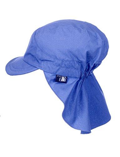 Sterntaler Berretto con Protezione per il Collo Unisex, Blu (Enzian 377), 49 cm
