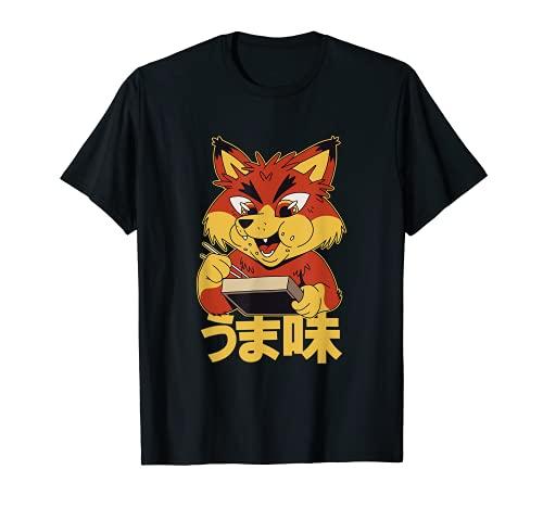 Fox Mangiare Bento Box Cibo Giapponese - Anime Kawaii Bento Maglietta