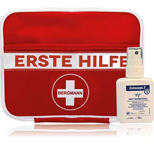 Erste Hilfe Set'BERGMANN' 3 in 1 【125 teilige Deutschsprachiger Inhalt】+ GRATIS Cutasept...