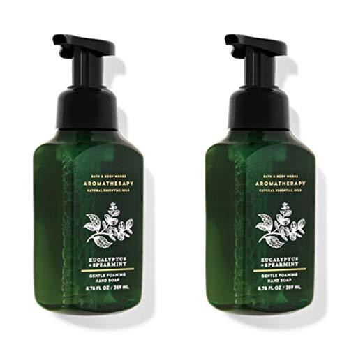 Bath and Body Works 2 Aromatherapy Stress Relief Gentle Foaming Hand Soap Eucalyptus & Spearmint. 8.75 Oz
