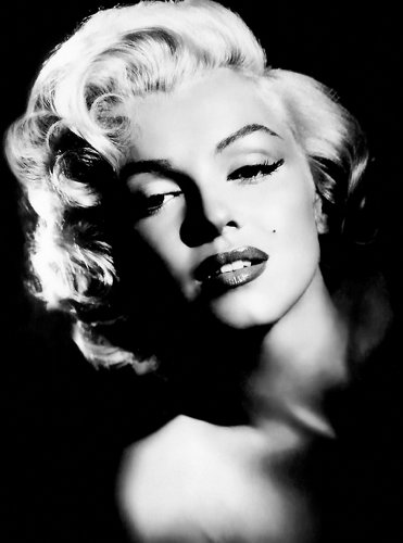 Großes Leinwandbild, Kunstdruck, Motiv Marilyn Monroe, Schwarz/Weiß, 76.20 X 50.80 Cm zum Aufhängen
