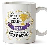 Mugffins Tazza papà (Miglior Padre del Mondo) - Premio Come Miglior papà - Idee Regali Originali Festa del papà