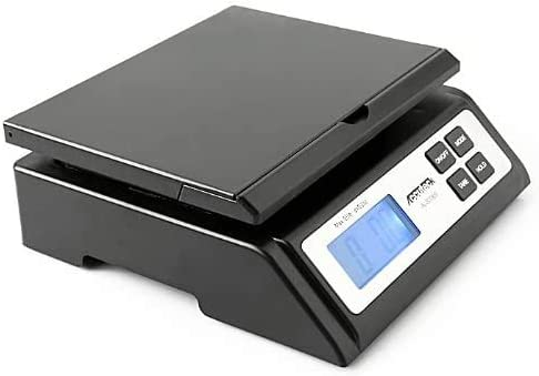 Accuteck Heavy Duty Postal Shipping Scale with Extra Large Display, Batteries and AC Adapter (A-ST85C),Black - Limite...