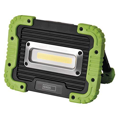EMOS LED-Arbeitsleuchte, aufladbare Campinglampe mit Powerbank, wasserdichter tragbarer LED-Strahler, 600 lm, 35 m Leuchtweite, 3000 mAh Akku mit 3,5 St. Leuchtdauer und USB-Kabel, P4534