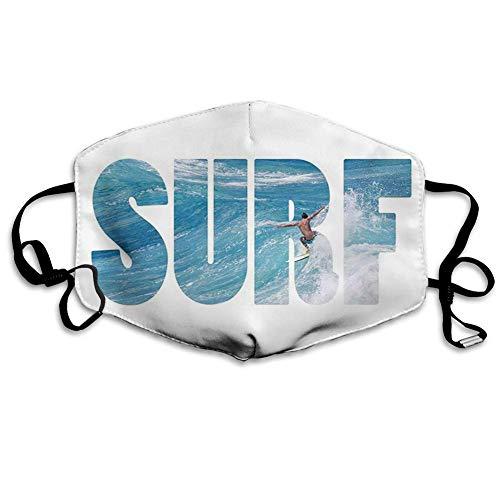 Cómoda máscara a Prueba de Viento, Surf, Surfista Montando gigantesc